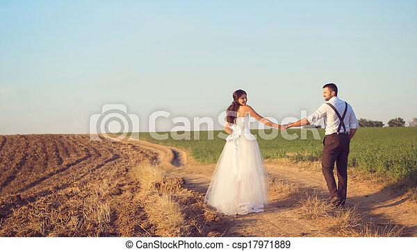 bröllop, gå - csp17971889