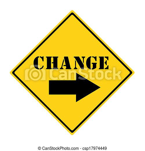Change Road Sign - csp17974449