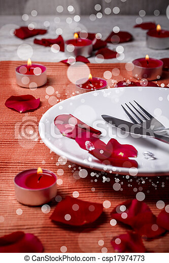 Valentine' day dinner - csp17974773