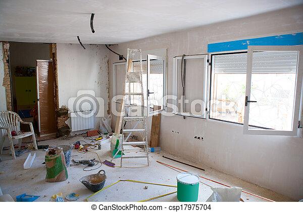 photo maison int rieur am liorations d sordre salle construction image images photo. Black Bedroom Furniture Sets. Home Design Ideas
