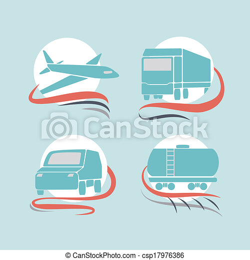 Transportation icons set - csp17976386