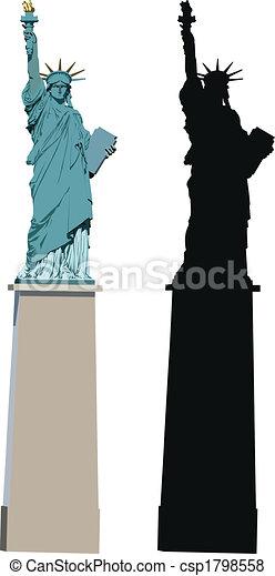 Statue of Liberty in Paris - csp1798558