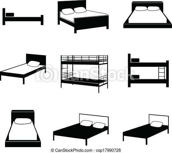 Vector Illustration Of Bed Icons Csp17990728 Search