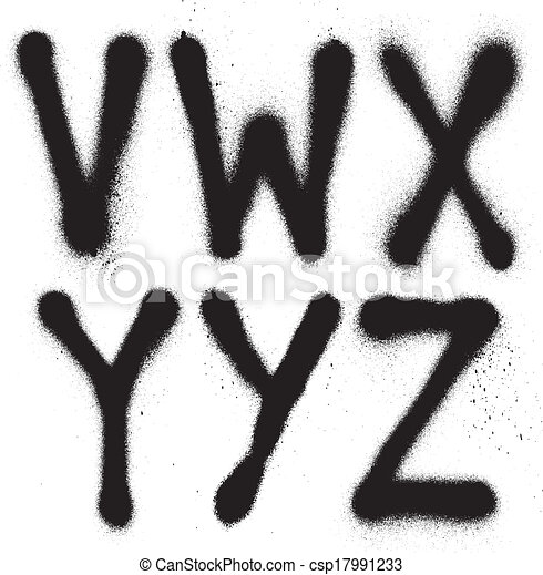 Graffiti font part 1 vector art download font vectors free graffiti