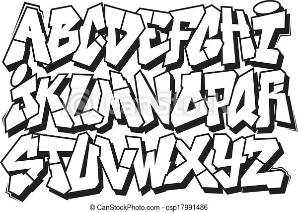 Gallery For gt Graffiti Drawing Alphabet