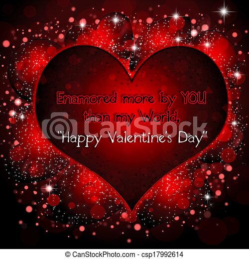 Happy Valentine's Day  - csp17992614