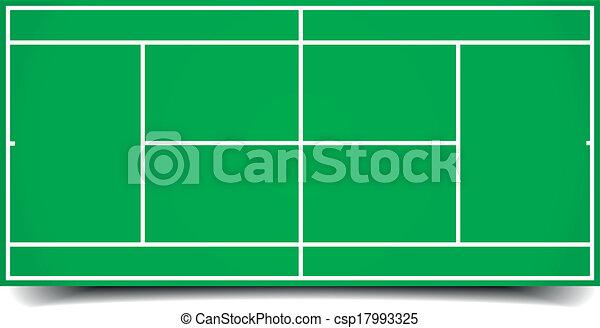 tennis court  - csp17993325