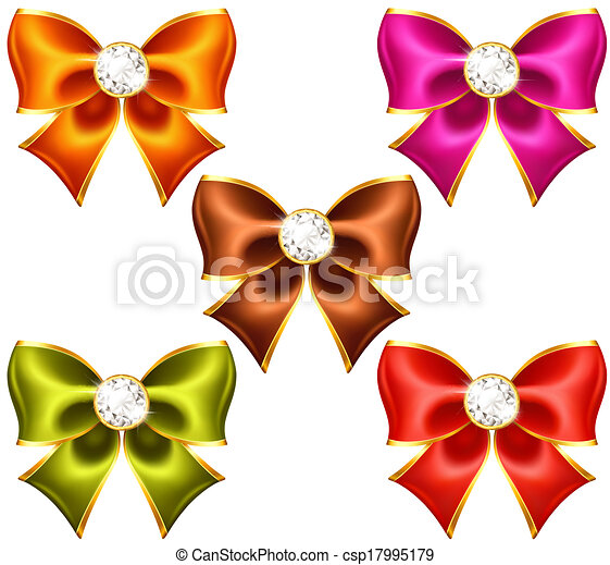 Holiday bows with diamonds - csp17995179