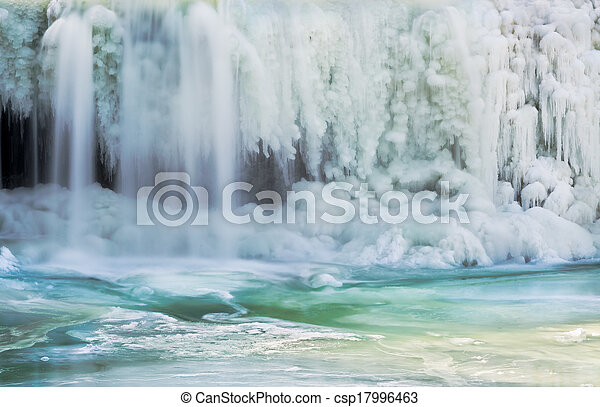 Icy Waterfall - csp17996463