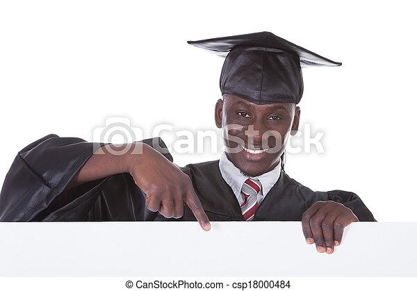 Graduation Man With Bill Board - csp18000484