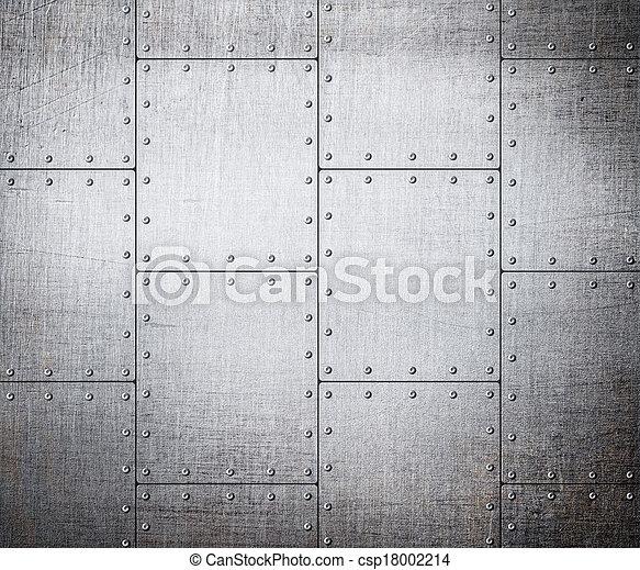 plaques,  métal, fond - csp18002214