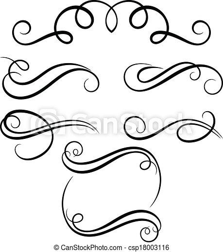 Vector Clip Art Of Calligraphic Decorative Elements