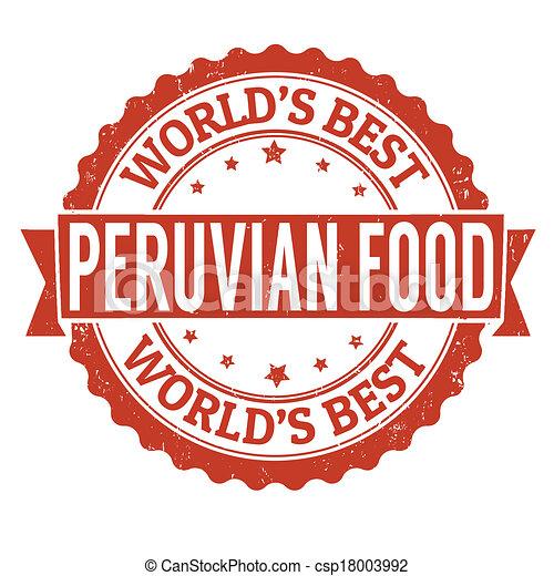 Eps vectors of peruvian food stamp peruvian food grunge for Art of peruvian cuisine