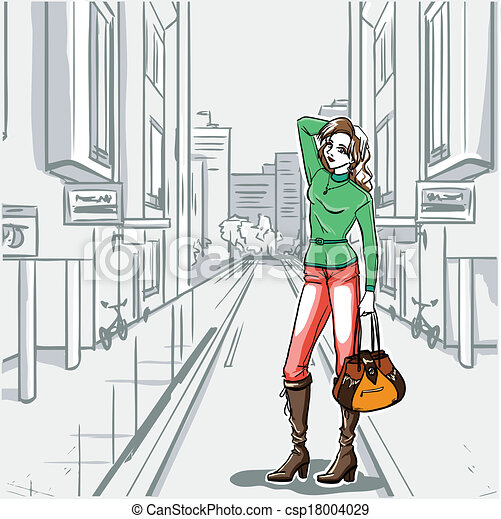 Urban Street Drawings Series Urban Fashion Street