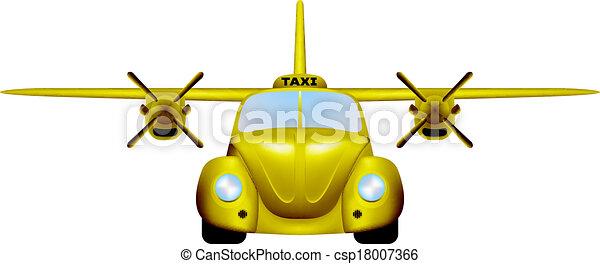 Clip Art Vector of Taxi. Retro flying car. csp18007366 - Search ...