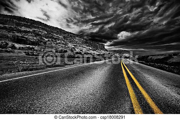 Rural road, USA - csp18008291