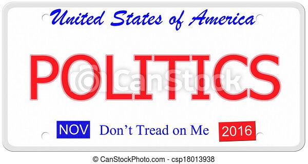Politics License Plate - csp18013938
