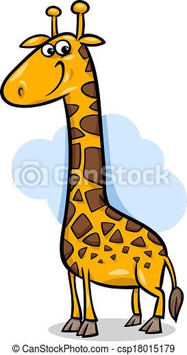 cute giraffe cartoon illustration - csp18015179