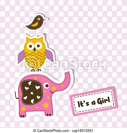 Template greeting card, vector - csp18015561