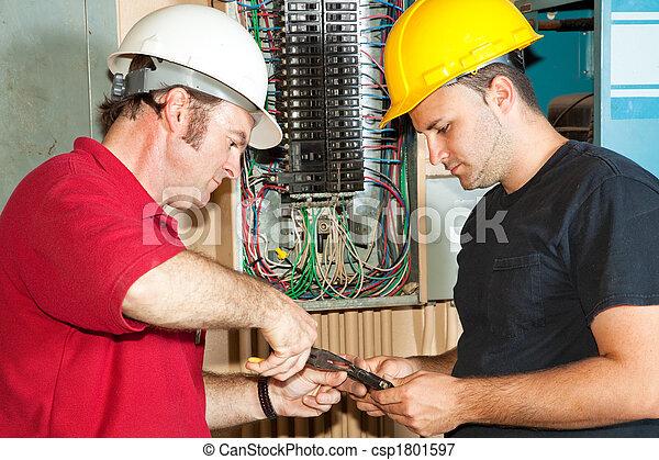 Electricians Repair Circuit Breaker - csp1801597