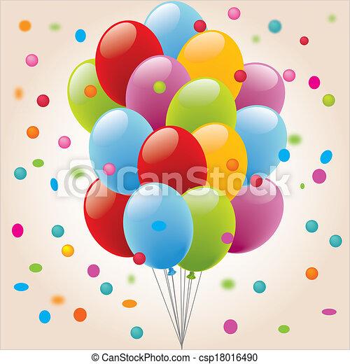 Vecteurs EPS de Ballon-Confetis, EPS - anniversaire, Anniversaire ...