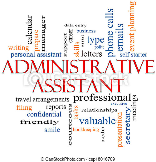 Stock Photography of Administrative Assistant Word Cloud ...