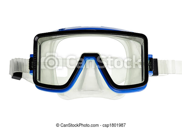 Diving goggles on white - csp1801987