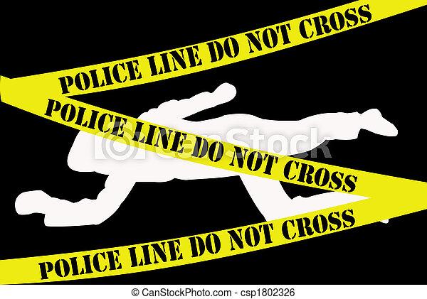 Crime scene - csp1802326