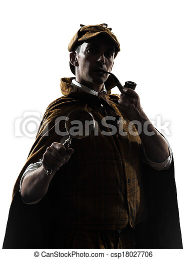sherlock holmes silhouette - csp18027706