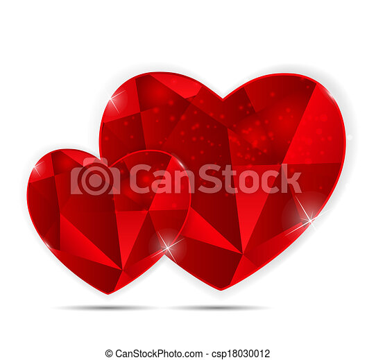 Happy Valentines Day Card with Heart. Vector Illustration - csp18030012