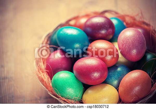 Easter eggs in the basket - csp18030712