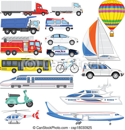 Vector illustration of means of transport vector for Can a motor carrier broker freight