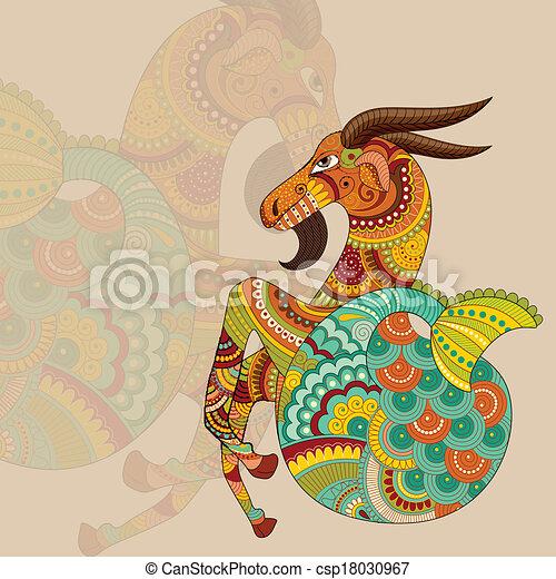 Capricorn Zodiac Sign - csp18030967