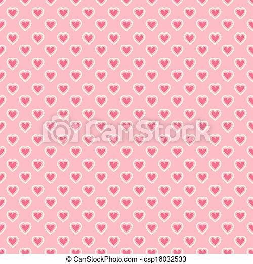 Heart shape vector seamless pattern (tiling) - csp18032533