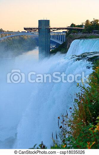 Niagara Falls sunrise - csp18035026