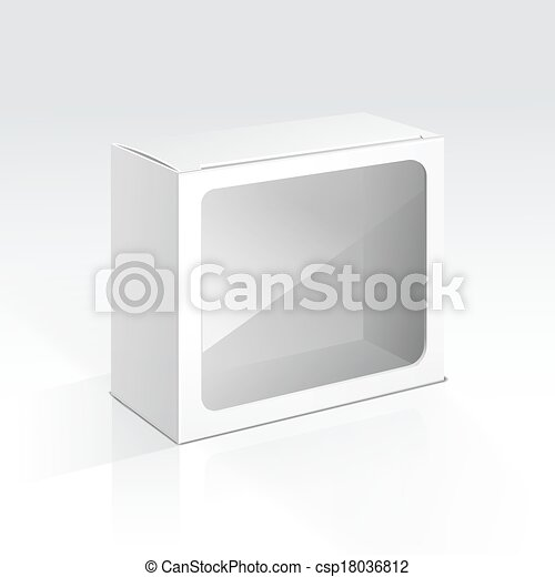 Vector Blank Box with Transparent Window - csp18036812