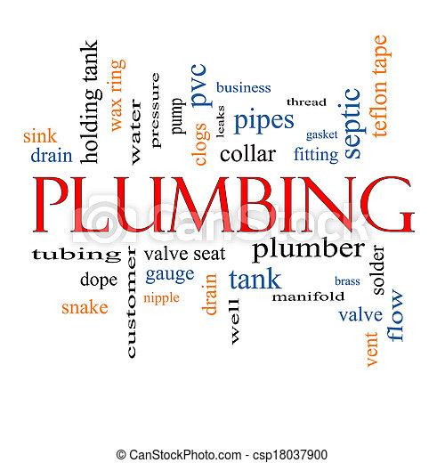 Plumbing Word Cloud Concept - csp18037900