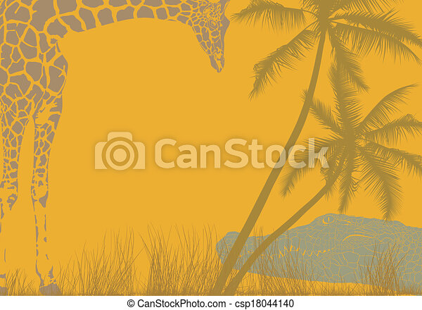 Safari animal background - csp18044140