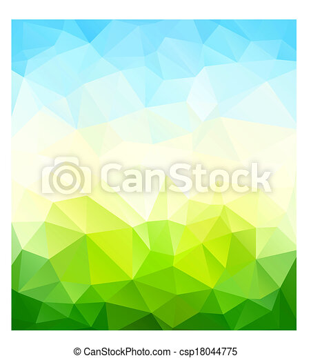 Triangle nature background - csp18044775