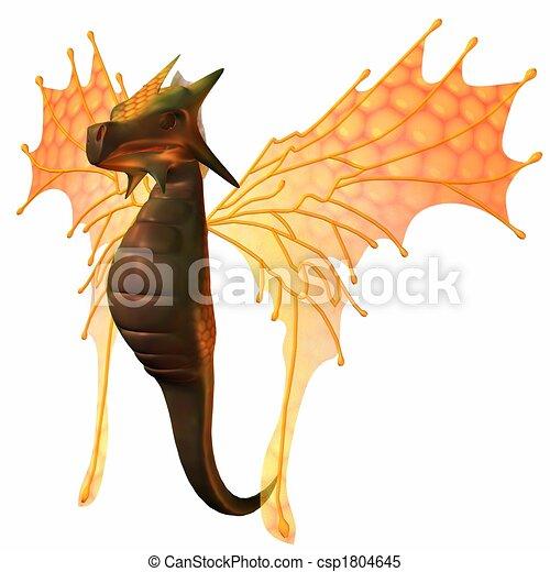 Fantasy Faerie Dragon - csp1804645