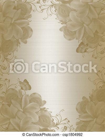 Stock Illustration Wedding Invitation Background elegant