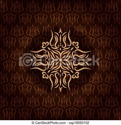 Vintage background, antique floral pattern - csp18050102
