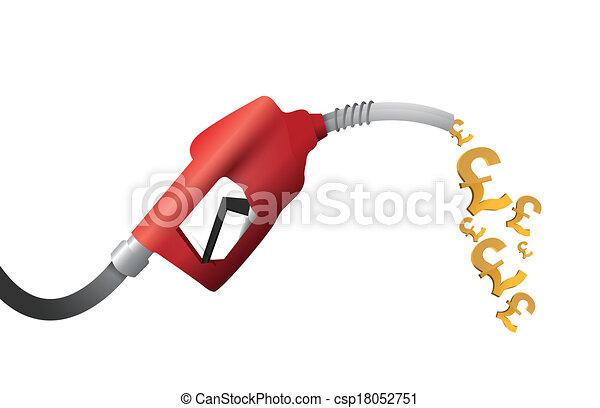 british pound currency gas pump - csp18052751