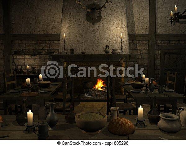 Medieval Tavern - csp1805298