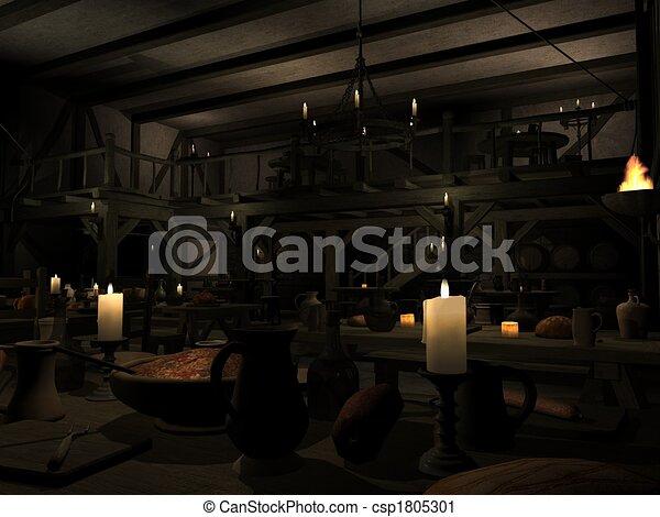 Medieval Tavern - csp1805301