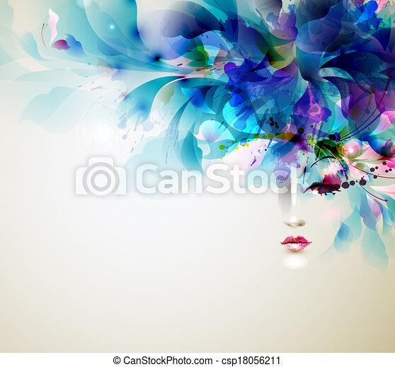 abstract women - csp18056211