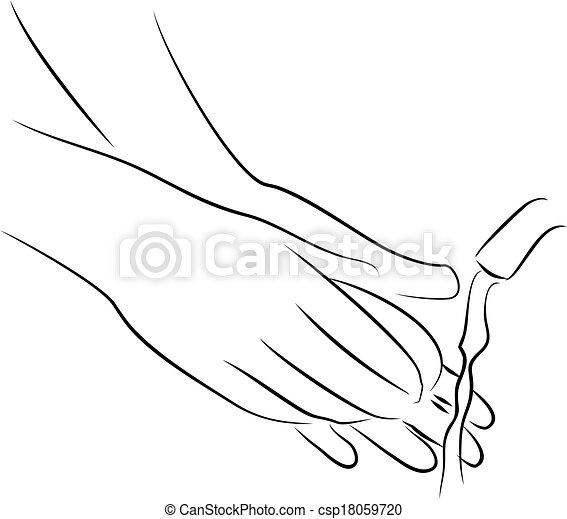 Clip art de lavage savon mains lavage ton mains est - Coloriage lavage des mains ...