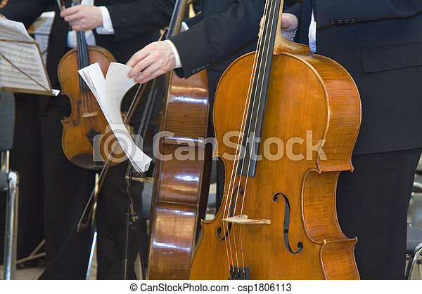Stock Photos of the concert of the classical music - Musicians at the...