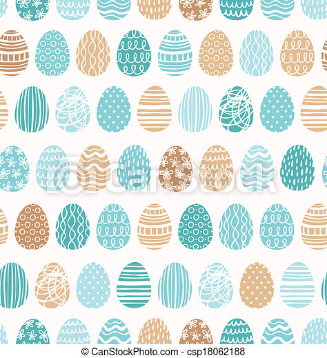 Easter eggs ornaments seamless pattern - csp18062188