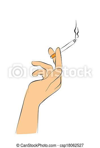 fumar asunto trabajo de mano